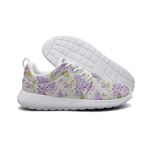 Flex Floral for Hoohle Purple Casual One Men Shoes Womens Artificial Wisteria Flowers Roshe Sports Mesh p1zqA