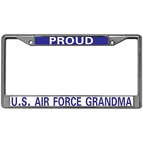 - ken fi Black License Plate Frame Proud US AIR Force Grandma License Plate Frame Custom License Plate Frame Custom Personalized for Women with Mounting Screws