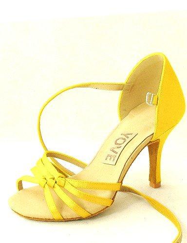 ShangYi Anpassbar - Maßgefertigter Absatz - Satin - Latin/Salsa - Damen Yellow