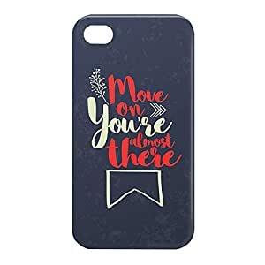Loud Universe Apple iPhone 4/4s 3D Wrap Around You Are Almost There Print Cover - Multi Color