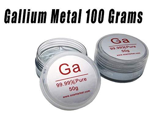 Gallium 99.99% Pure 100 Grams 4N Science Project Liquid Metal Ga -Phitoon
