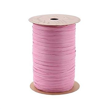 Berwick Craft Matte 1//4 Wide Raffia Ribbon Lavender Purple 100 Yards