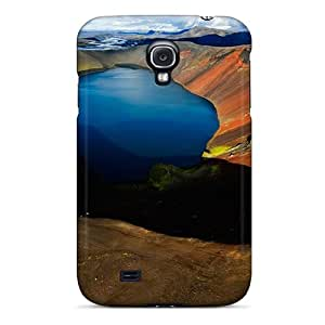 Top Quality Case Cover For Galaxy S4 Case With Nice Arctic Volcanic Lake Appearance