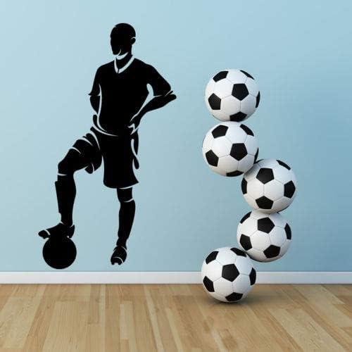 lyclff Futbolista con balón Goleador de fútbol Pegatinas de Pared ...