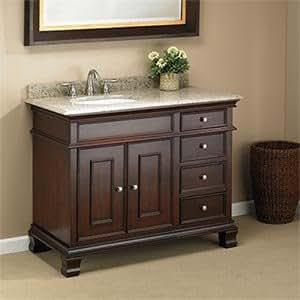 manhattan 42 single sink vanity by mission hills dark. Black Bedroom Furniture Sets. Home Design Ideas