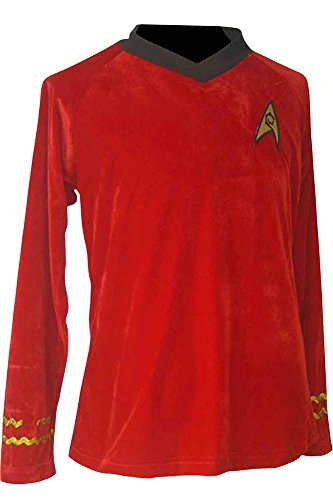 [CosplaySky Star Trek Costume The Original Series Engineering Red Shirt XXX-Large] (Red Star Trek Dress)
