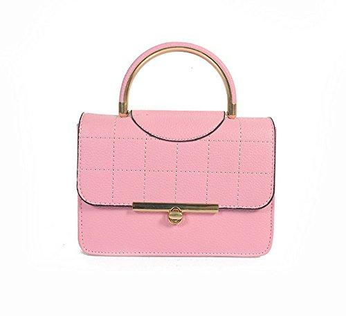 Quattro Mano Diagonale Con Tracolla Lucido pink In Ferro Gray A Colori Rrock Ricamata tzw5qqS