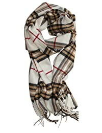 SethRoberts-Classic Cashmere Feel Men's Winter Scarf in Rich Plaids (WHITE)