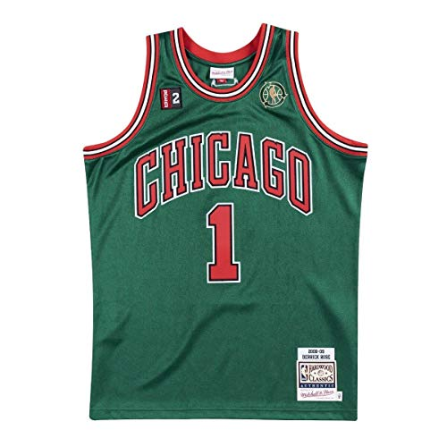 a6502085d50 Mitchell & Ness Derrick Rose Chicago Bulls Authentic 2008 Alternate NBA  Jersey - Green