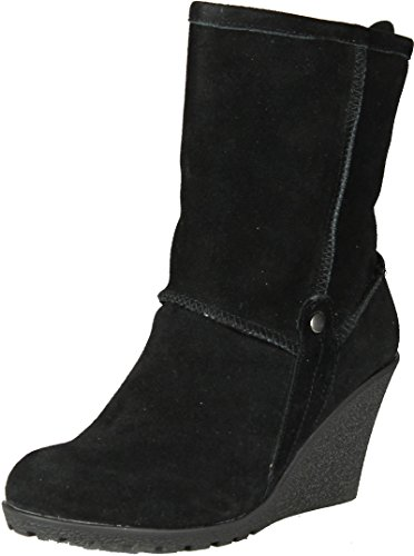 Gcny Good Choice Womens Luxe Fashion Wedge Boots Black.
