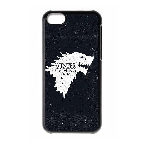 W5P23 Game of Thrones Winter Is Coming Z2S6VY coque iPhone 5c cellulaire cas de téléphone couvercle coque noire IG5WGD5FQ