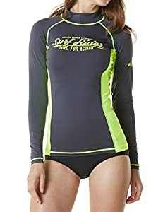 Tesla Women's UPF 50+ Regular-Fit Long Sleeve Athletic Rashguard FSR21