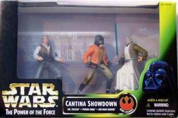 (Star Wars: Power of the Force Cinema Scenes Cantina Showdown (Dr. Evazan, Ponda Boba, Obi-Wan Kenobi) Action Figure Mult)