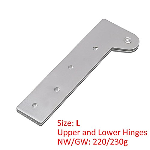 KFZ Upper and Lower Hinges Cupboard/Cabinet Door Hinges 7-Shape Head Concealed Hings 180 Degree Rotating Hinge JD-DJPF12 Hardware Accessories (10,L) by KFZ (Image #1)