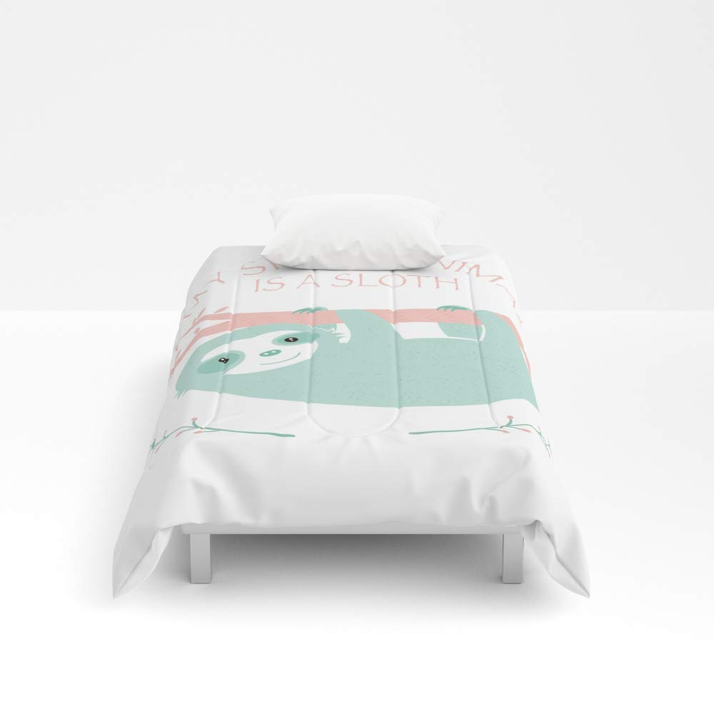 Society6 Comforter, Size Twin XL: 68'' x 92'', My Spirit Animal is a Sloth by creotumundo