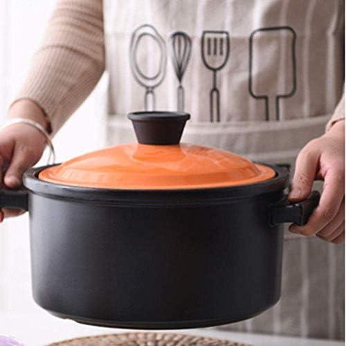 UWY Casserole Pot Pot de Cuisson en céramique - Casserole Casserole Pot à Soupe dédié Pot à ragoût Gaz Domestique Casserole en céramique Cuisinière à gaz Pot à Soupe-4.5L