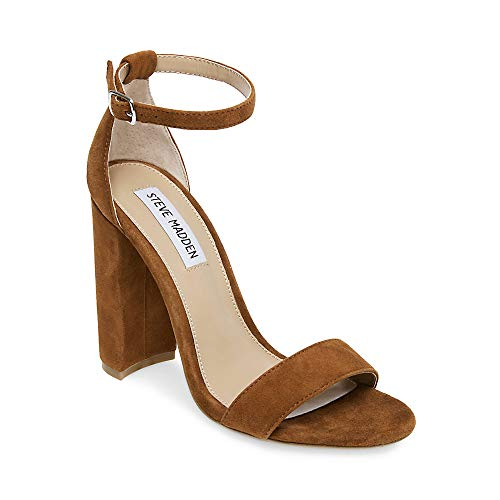 Steve Madden Women's Carrson Heeled Sandal, Chestnut Multi, 9 M US -