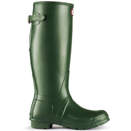 Womens Jager Verstelbare Rug Wellingtons Waterdichte Rubberen Regenlaarzen Groen