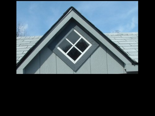 Shed Windows 12'' x 12'' White Flush Mount Safety Glass by Shed Windows and More (Image #1)