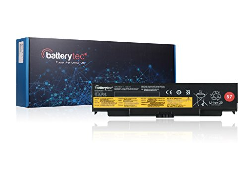Batterytec Laptop Battery for ThinkPad T440p T540p L440 L540 W540 Series; 45N1145 45N1147 45N1149 45N1151 45N1153. [10.8V 4400mAh, 1 Year Warranty]