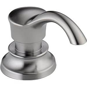 Delta Faucet RP71543AR Cassidy, Soap/Lotion Dispenser and Bottle, Arctic Stainless