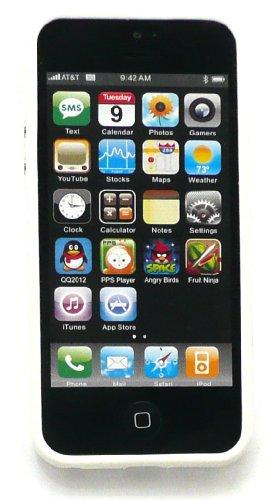 Emartbuy® Apple Iphone 5 5s Moulded Bumper Frame Gel Cover / Case Solid Weiß