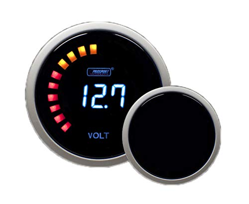 Volt Gauge- Digital Series Blue 52mm (2 1/16