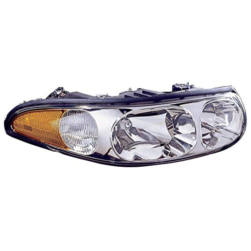 Fits Buick LE SABRE 00-05 Headlight Assembly CUSTOM MDL.FLUTED HIBMW SURFACE Driver Side (NSF Certified) ()