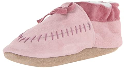 Robeez Cozy Moccasin PK Crib Shoe (Infant/Toddler),Pink,12-18 Months M US Infant