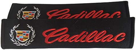 2pcs Car Seat Belt Shoulder Pads Cover For Cadillac Escalade CTS SRX STS-V DTS BLS Vibe