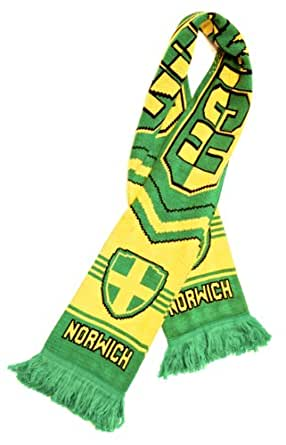 Amazon Com Norwich City Fc Authentic Soccer Fan Scarf