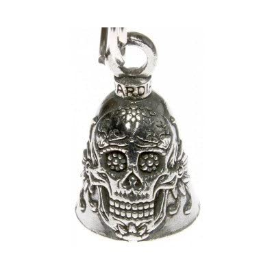 Sugar Skull Guardian Bell Motorcycle Accessory: Automotive