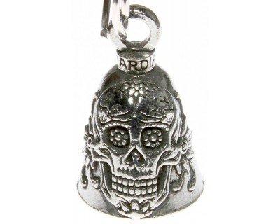 Sugar Skull Guardian Bell Motorcycle Accessory