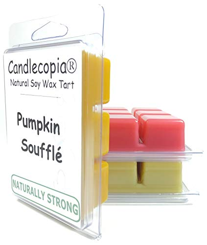 Candlecopia Pumpkin Soufflé, Baked Apple Pie, and Seriously Cinnamon Strongly Scented Hand Poured Vegan Wax Melts, 18 Scented Wax Cubes, 9.6 Ounces in 3 x 6-Packs