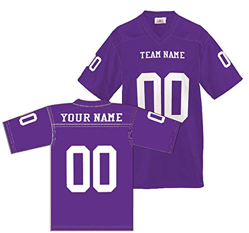 Custom Football Replica Team Jersey (Large, Purple) ()