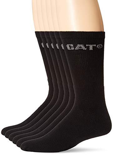 Caterpillar Men's Everyday Work Sock (pack of 6) Black 9-13 M - Clothing Cat Equipment
