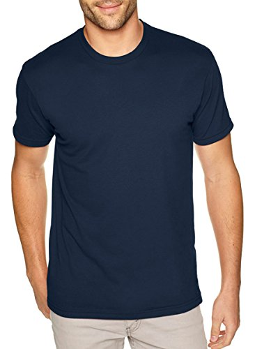 Next Level Mens Premium Fitted Sueded Crew  Midnight Nvy  X Large