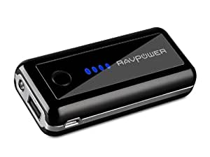 Dynamo-On-the-Go 5600mAh External Battery Pack Power Bank  with  Built-in Flashlight, Free Wall Charger and Carrying Pouch