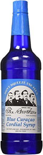 Fee Brothers Blue Curacao Cordial Syrup - 32 oz