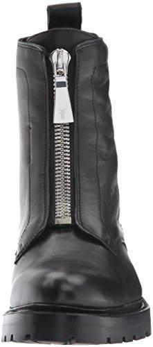 Frye Womens Julie Front Zip Boot Da Combattimento Nero Lucido Pieno Fiore Pieno Fiore
