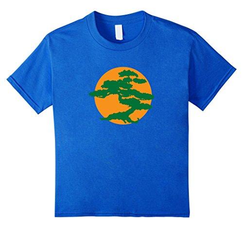 Japanese Bonsai Tree & Orange Sun Graphic Zen T-Shirt