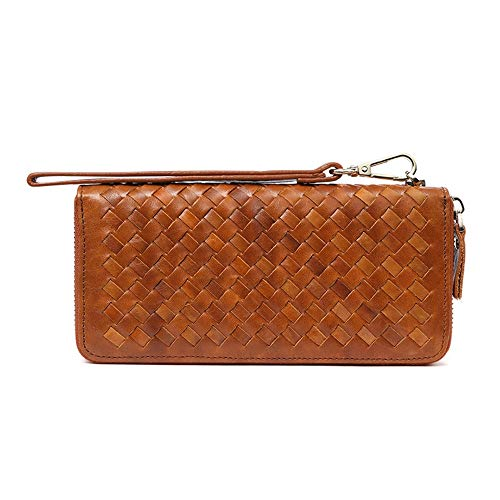 card Weaving A Purse Portafoglio Monete 8 Portafogli Carte Long Marrone Fashion Maggior La Credito Retro Fino Multi Contiene In Clutch Mens Pelle Wallet Pell Porta Position Di Parte I0z0wS
