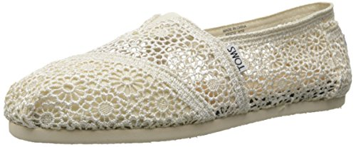 (Toms Women classic morocco cropchet natural crochet, Size 10 US)
