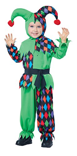 [California Costumes Junior Jester Toddler Costume, Size 3-4] (Boy Clown Costumes)