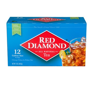 - Red Diamond All Natural Iced Tea Bags Gallon Size, 12 Count (1)