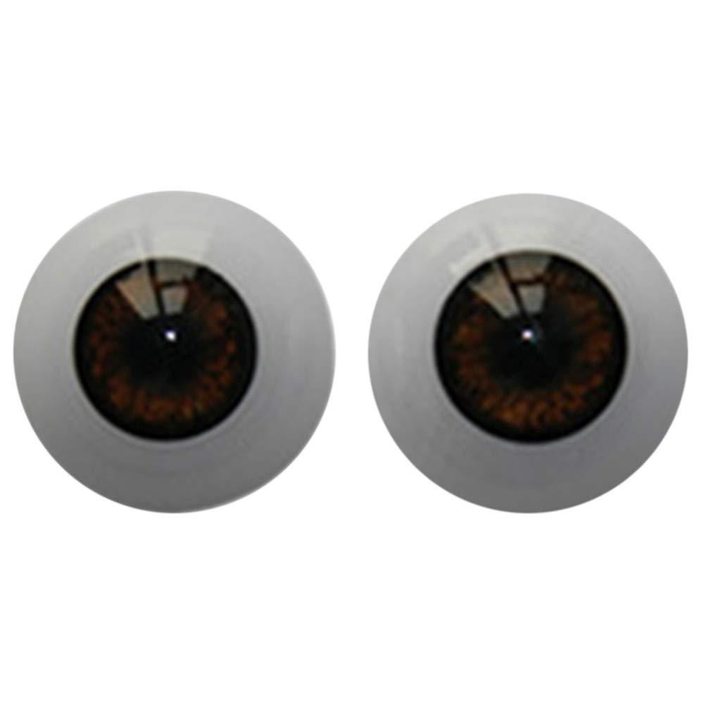 TianranRT Recycelt Puppe Augen gr/ün 22mm-Reborn-Baby-Dolls-Augen-Halbrund-Acryl-Augen-Braun-f/ür-BJD-OOAK-Puppe GN