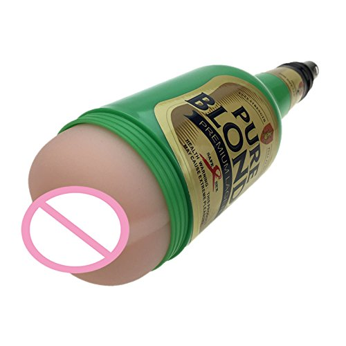 new Pussy for Men's Masturbation in Discreet Beer Bottle Shape,Attached onto a Sex Machine as its Accessory,Attachment,Sex Toys
