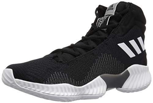 adidas Men's Pro Bounce 2018 Basketball Shoe, Black/White/Grey, 10.5 M US