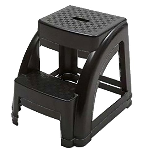 2-Step 300 Pound Capacity Durable Utility Step Stool - Black (2)