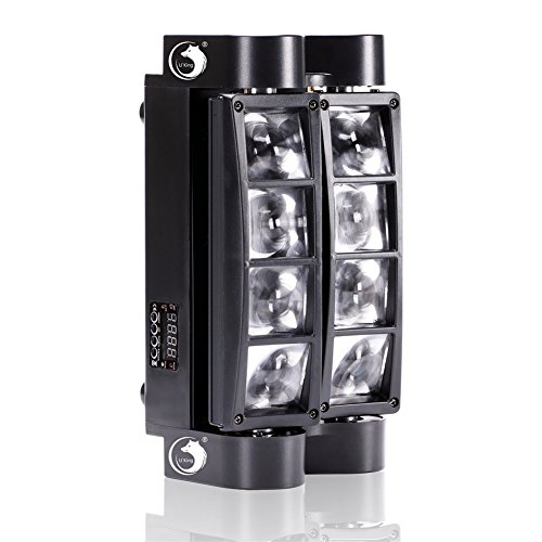 U`King DJ Moving Head Lights Beam Spider Light 8x10W RGBW with DMX for Party LED Stage Lighting ()